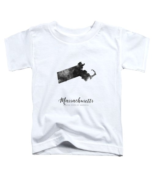 Massachusetts State Map Art - Grunge Silhouette Toddler T-Shirt