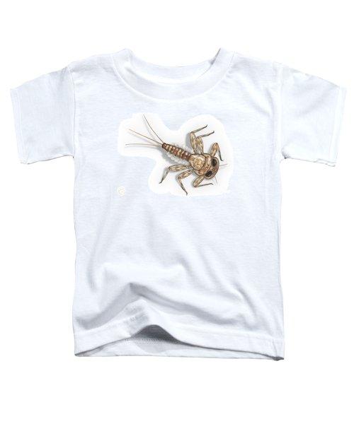 Mayfly Larva Nymph Rithorgena Ecdyonurus Venosus - Moscas De May Toddler T-Shirt