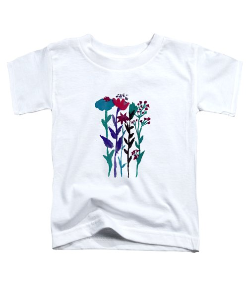 Meadow Flowers Watercolor Toddler T-Shirt