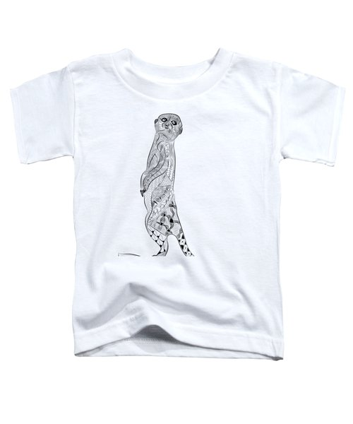 Meerkat Toddler T-Shirt by Serkes Panda