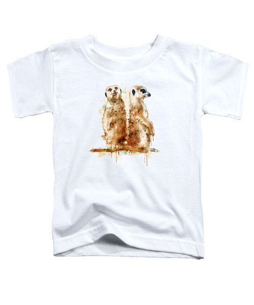 Meerkats Toddler T-Shirt by Marian Voicu