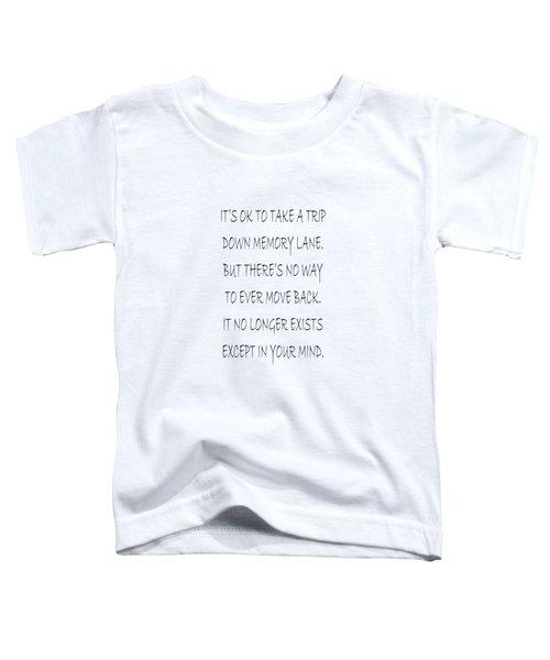 Memory Lane Poem Toddler T-Shirt