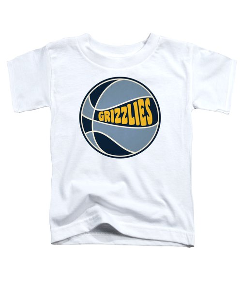 Memphis Grizzlies Retro Shirt Toddler T-Shirt by Joe Hamilton
