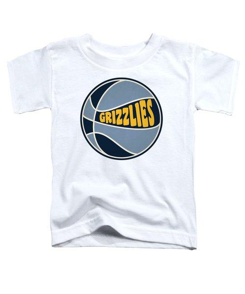 Memphis Grizzlies Retro Shirt Toddler T-Shirt by Joe Hamilton