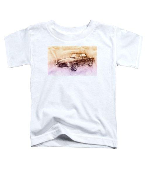 Mercedes-benz 280sl Roadster 2 - 1967 - Automotive Art - Car Posters Toddler T-Shirt