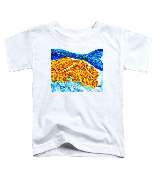 Mermaid Alcohol Inks Toddler T-Shirt