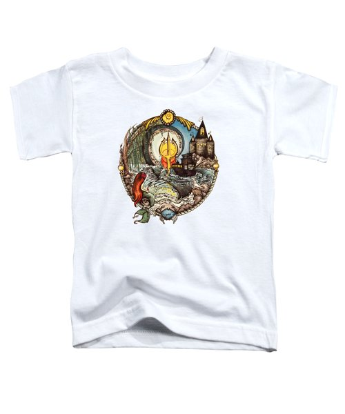 Mermaid Part Of Your World Toddler T-Shirt by Cat Dolch