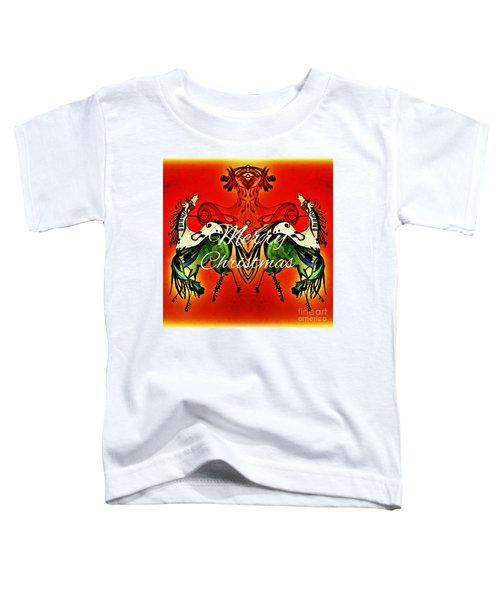Merry Christmas Dancing Musical Horses Toddler T-Shirt by Scott D Van Osdol