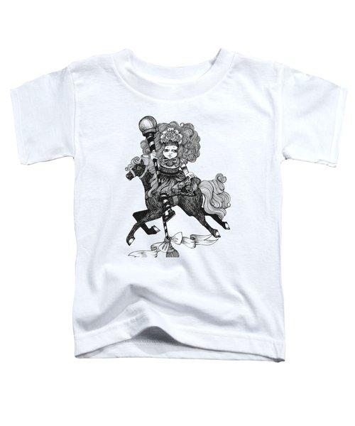Merry-go-round Girl Toddler T-Shirt by Akiko Okabe