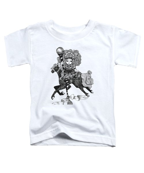 Merry-go-round Girl Toddler T-Shirt