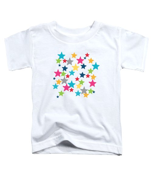 Messy Stars- Shirt Toddler T-Shirt by Linda Woods