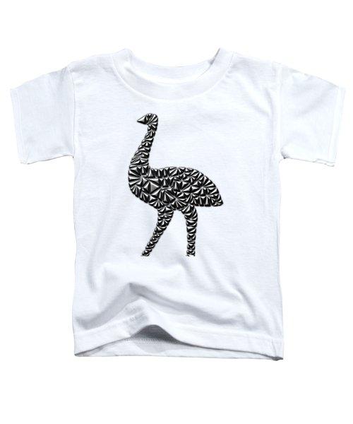 Metallic Emu Toddler T-Shirt by Chris Butler