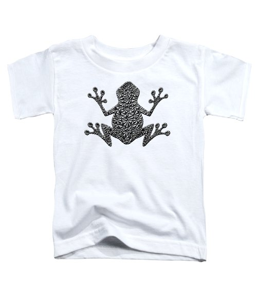 Metallic Frog Toddler T-Shirt by Chris Butler