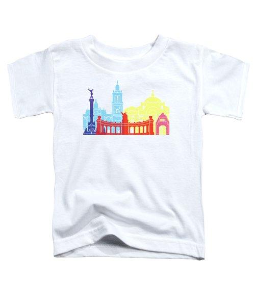 Mexico City Skyline Pop Toddler T-Shirt