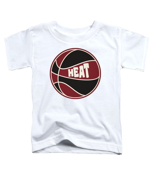 Miami Heat Retro Shirt Toddler T-Shirt by Joe Hamilton