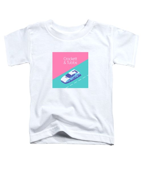 Miami Vice Crockett Tubbs - Magenta Toddler T-Shirt by Ivan Krpan