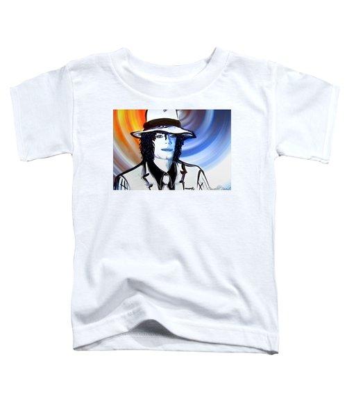 Michael Jackson White Fedora Alcohol Inks Toddler T-Shirt