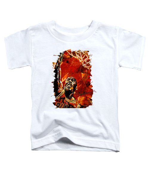 Michael Jordan Toddler T-Shirt by Maria Arango