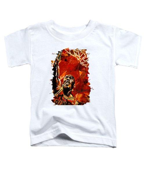 Michael Jordan Toddler T-Shirt by Maria Arango