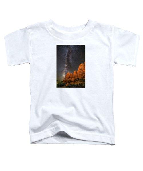 Milky Way And Navajo Rocks Toddler T-Shirt