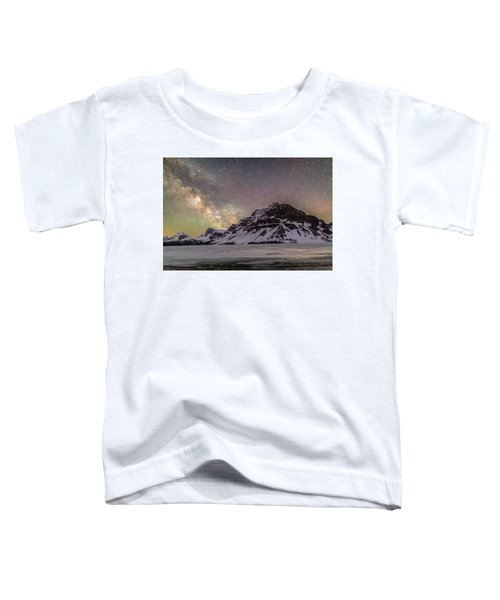 Milky Way Over Crowfoot Mountain Toddler T-Shirt