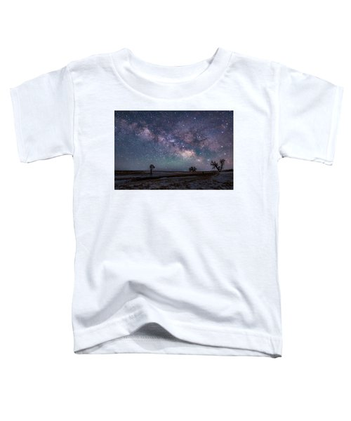 Milky Way Over The Prairie Toddler T-Shirt