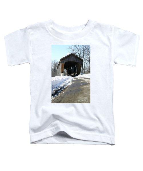 Millrace Park Old Covered Bridge - Columbus Indiana Toddler T-Shirt
