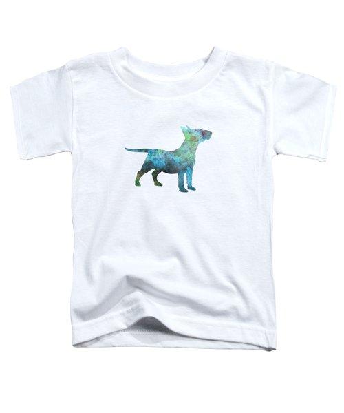 Miniature Bull Terrier In Watercolor Toddler T-Shirt