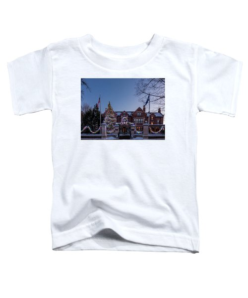 Christmas Lights Series #6 - Minnesota Governor's Mansion Toddler T-Shirt