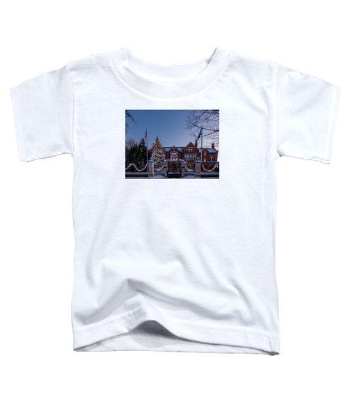 Christmas Lights Series #6 - Minnesota Governor's Mansion Toddler T-Shirt
