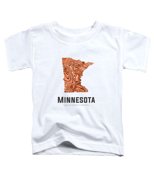 Minnesota Map Art Abstract In Brown Toddler T-Shirt