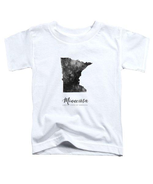 Minnesota State Map Art - Grunge Silhouette Toddler T-Shirt