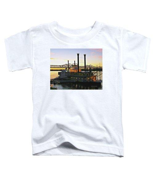 Mississippi Riverboat Sunset Toddler T-Shirt