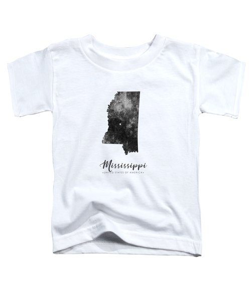 Mississippi State Map Art - Grunge Silhouette Toddler T-Shirt