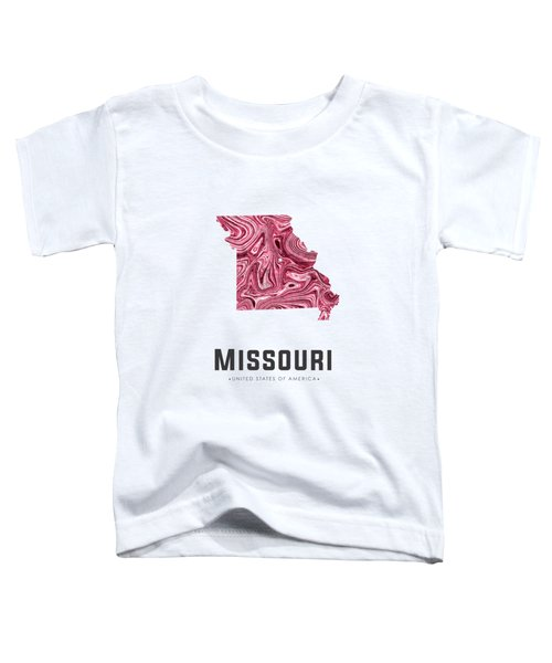 Missouri Map Art Abstract In Purple Toddler T-Shirt