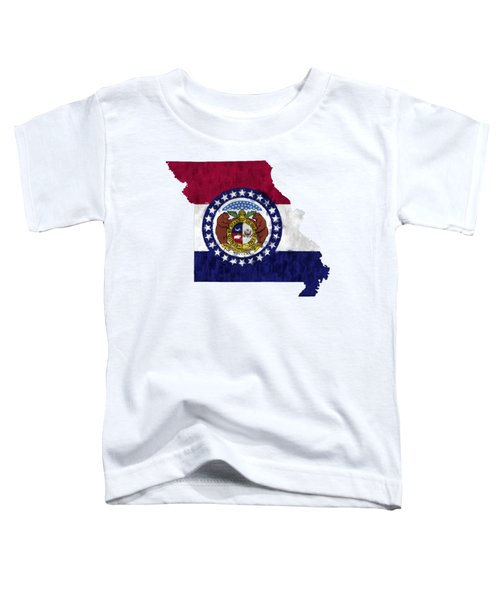 Missouri Map Art With Flag Design Toddler T-Shirt