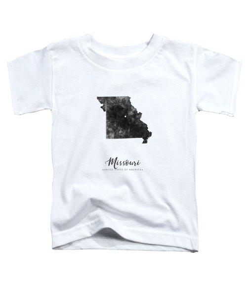 Missouri State Map Art - Grunge Silhouette Toddler T-Shirt