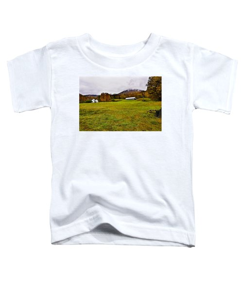 Misty Autumn At The Farm Toddler T-Shirt