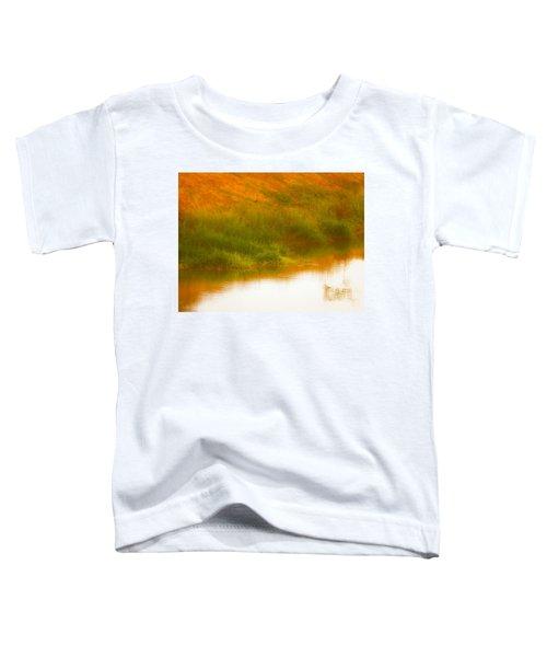 Misty Yellow Hue -lone Jacana Toddler T-Shirt