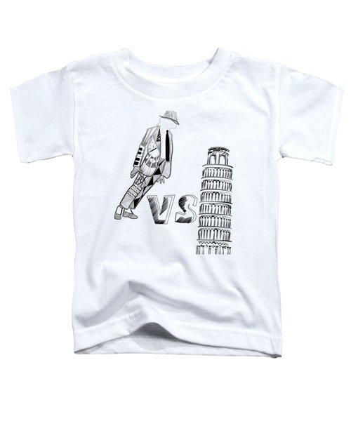 Mj Vs Pisa Toddler T-Shirt by Serkes Panda