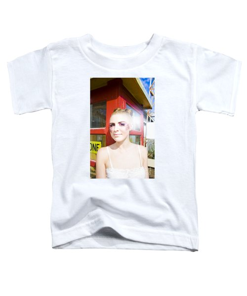 Model In Lace Makeup Toddler T-Shirt