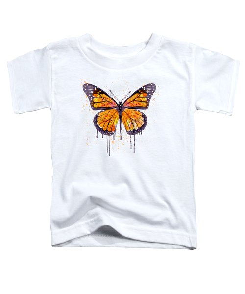 Monarch Butterfly Watercolor Toddler T-Shirt by Marian Voicu