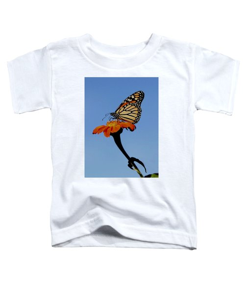 Monarch On Zinnia  Toddler T-Shirt