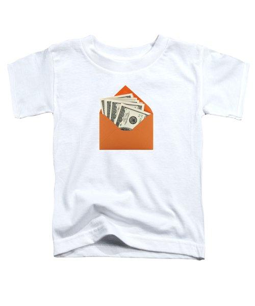 Money In An Orange Envelope Toddler T-Shirt