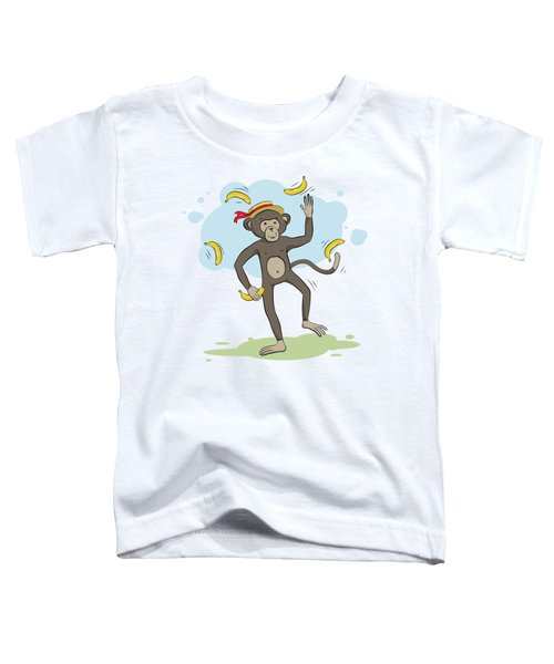 Monkey Juggling Bananas Toddler T-Shirt