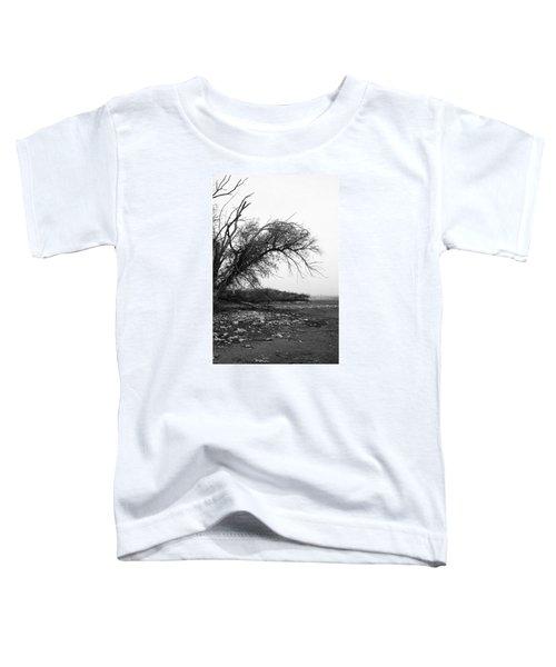 #monochrome #lake #landscape  #stausee Toddler T-Shirt