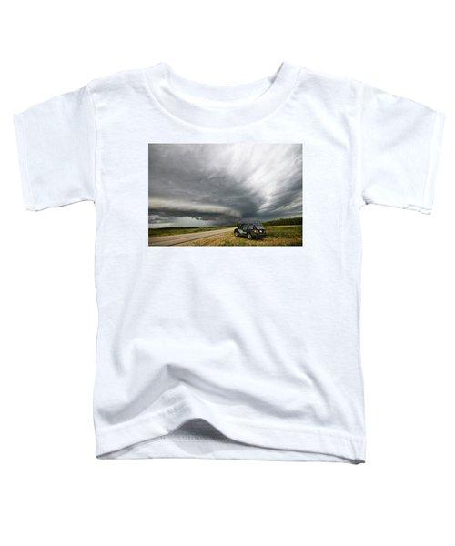 Monster Storm Near Yorkton Sk Toddler T-Shirt