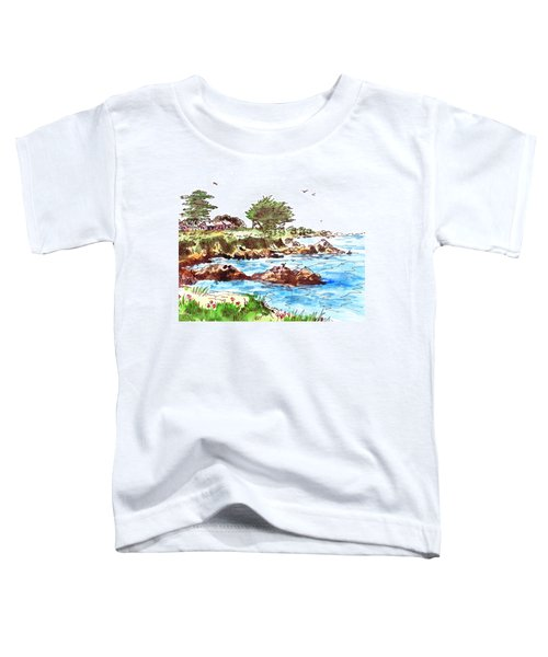 Toddler T-Shirt featuring the painting Monterey Shore by Irina Sztukowski