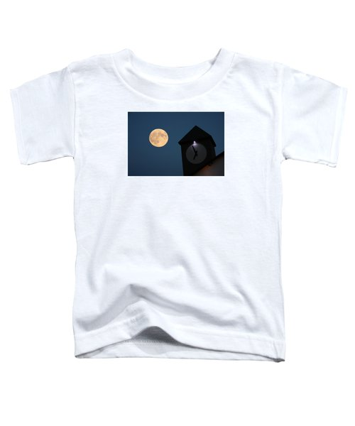 Moon And Clock Tower Toddler T-Shirt