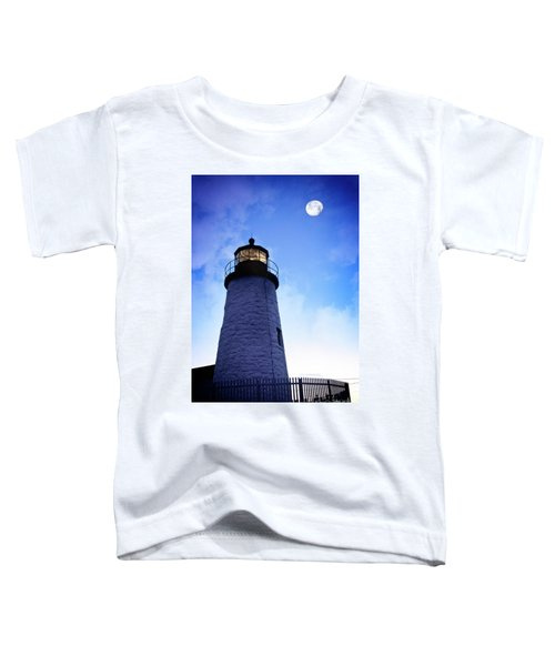 Moon Over Lighthouse Toddler T-Shirt